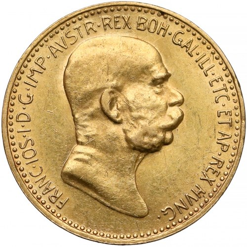 Austria, Franciszek Józef I, 10 koron 1908 - 60-lecie panowania