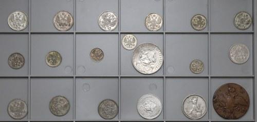 Rosja, zestaw monet 1838-1925 (19szt)
