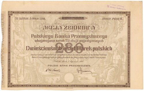 Polski Bank Przemysłowy, 25x 280 mkp 01.1921