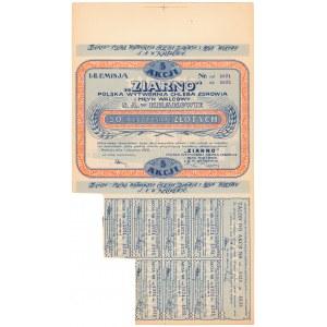 Polska Wytwórnia Chleba Zdrowia i Młyn Walcowy Ziarno, 5x 10 zł 1928