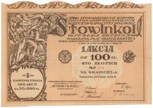 Stowinkol, Em.1, 100 zł 1934