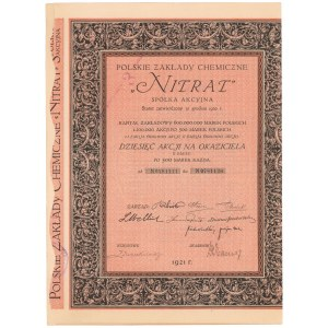 Polskie Zakłady Chemiczne Nitrat, Em.2, 10x 500 mkp 1921