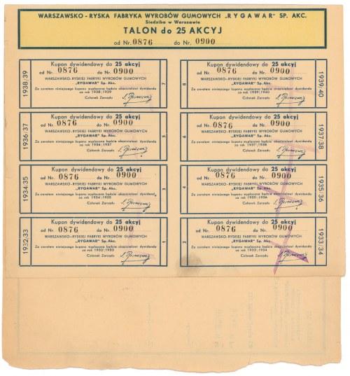 Rygwar, Em.3, 25x 100 zł 1933