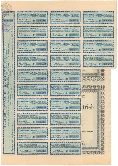 Śląskie Kopalnie i Cynkownie, 100 zł 1924