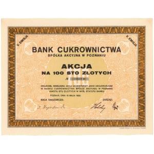 Bank Cukrownictwa w Poznaniu, Em.5, 100 zł 1929