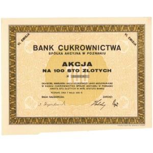 Bank Cukrownictwa w Poznaniu, Em.6, 100 zł 1930