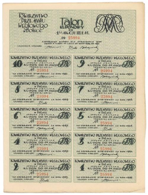 Tow. Przemysłu Węglowego, Em.3, 1.000 mkp