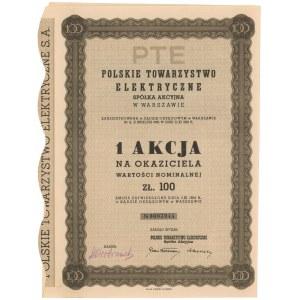 Polskie Towarzystwo Elektryczne, 100 zł 1934
