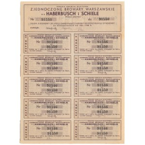Zjednoczone Browary Warszawskie p.f. Haberbusch i Schiele, Em.2, 5x 100 zł