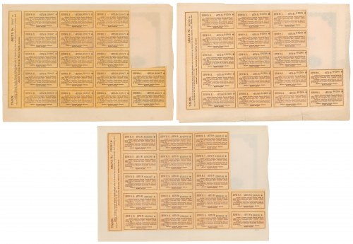 Gafota Lwowska Fabryka Obuwia, Em.4-6, 140 mkp 1921-23 (3szt)