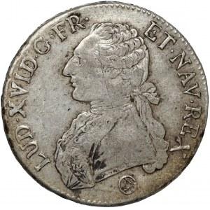 Francja, Ludwik XVI, Écu 1776-Q, Perpignan