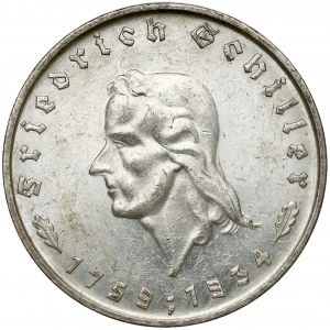 Niemcy, III Rzesza, 5 marek 1934-F - Schiller