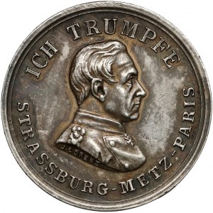 Niemcy, Prusy, Medal Graf von Moltke 1871 (Lorenz)