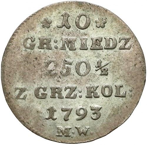 Poniatowski, 10 groszy 1793 M.W.
