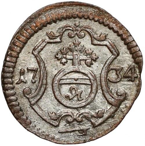 August III Sas, Halerz 1734 IGS, Drezno - pierwszy