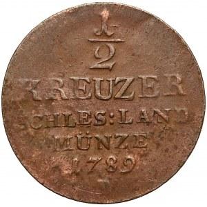 Śląsk, Fryderyk Wilhelm II, 1/2 krajcara Wrocław 1789-B