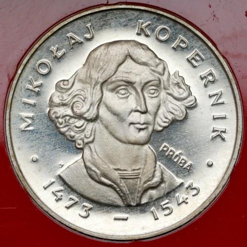 Próba (Ag) 100 złotych 1973 Kopernik - mała głowa