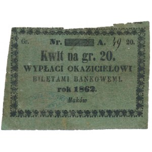 Maków, K. Bordowski, 20 groszy 1862