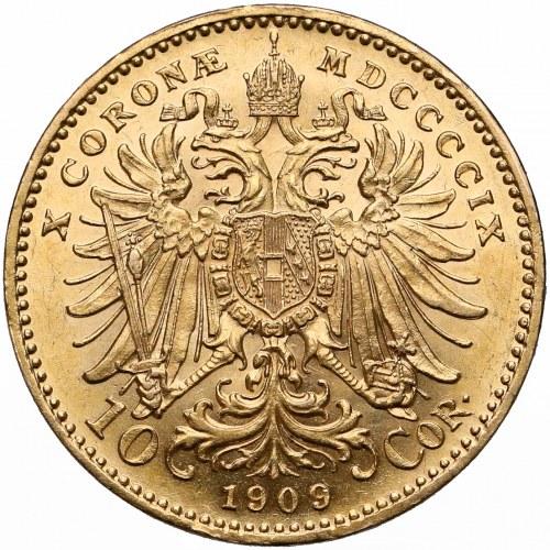Austria, Franciszek Józef I, 10 koron 1909 - duża głowa