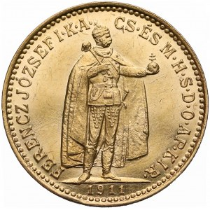 Węgry, Franciszek Józef I, 10 koron 1911 KB