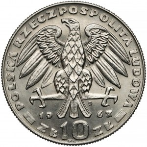 Próba NIKIEL 10 złotych 1967 Świerczewski - w czapce