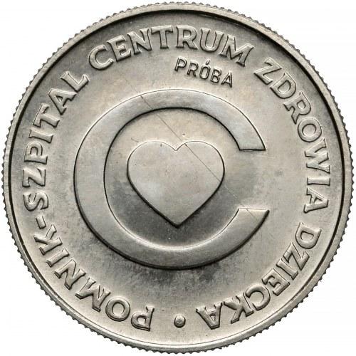 Próba NIKIEL 20 złotych 1979 Szpital Centrum Zdrowia Dziecka