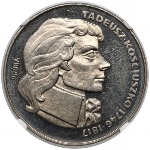 Próba NIKIEL 100 zł 1976 Kościuszko - w prawo