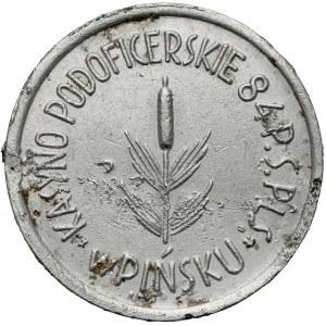 84 Pułk Strzelców Poleskich, KASYNO Podoficerskie, Pińsk, 50 groszy - rzadki