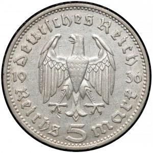 Niemcy, III Rzesza, 5 marek 1936-J - Hindenburg