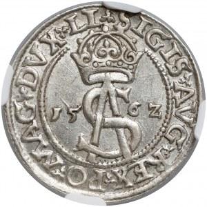 Zygmunt II August, Trojak Wilno 1562 - duża Pogoń - piękny