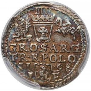 Zygmunt III Waza, Trojak Olkusz 1598 - piękny