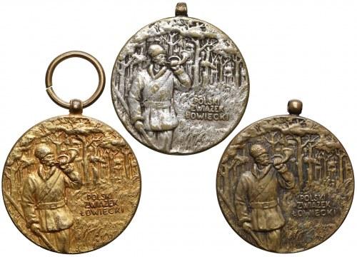 Polski Związek Łowiecki Medale: Złoty, Srebrny i Brązowy (3)