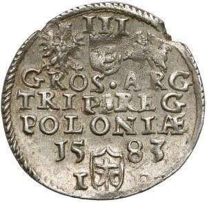 Stefan Batory, Trojak Olkusz 1583 - b. ładny