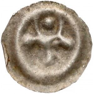 Brakteat - Głowa byka na wprost (kula między rogami)