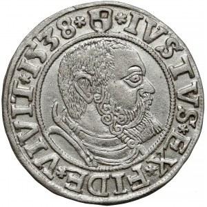 Prusy, Albrecht Hohenzoller, Grosz Królewiec 1538
