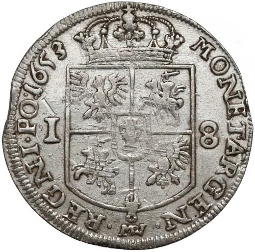 Jan II Kazimierz, Ort Wschowa 1653 MW - duże popiersie
