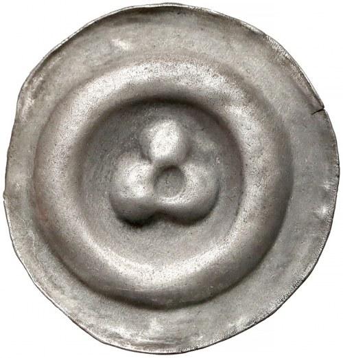 Brakteat - rozeta trzypłatkowa (wklęsły środek)