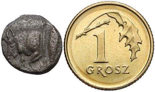Grecja, Mezja, Kyzikos, Diobol, 450-400r. p.n.e.