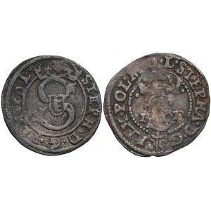Stefan Batory, Szeląg Wilno 1583 i Olkusz 1584 (2szt)