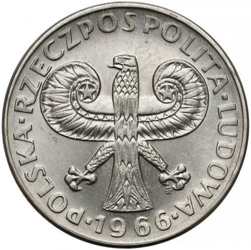 Próba NIKIEL 10 złotych 1966 Mała Kolumna