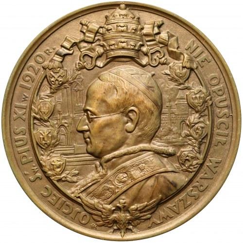 Medal Cud nad Wisłą / papież Pius XI 1930 r. (Koźbielewski)