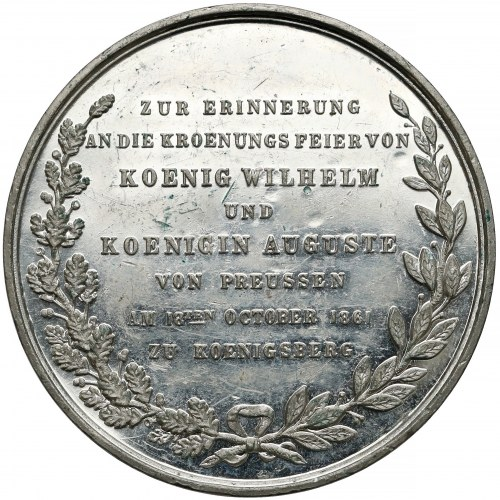 Niemcy, Prusy, Medal koronacja Wilhelma I 1861 r.