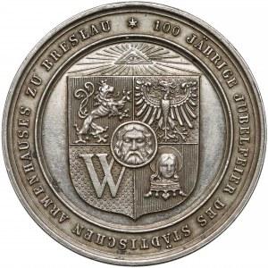 Śląsk, Wrocław, Medal 100-lecie miejskiego przytułku 1888