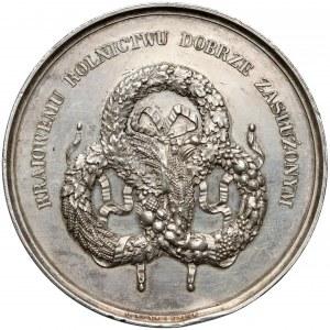 1858 r. Medal SREBRO Towarzystwo Rolnicze w Królestwie Polskim