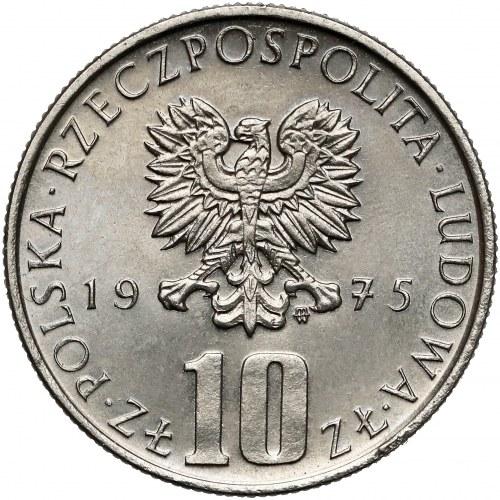 Próba NIKIEL 10 złotych 1975 Bolesław Prus