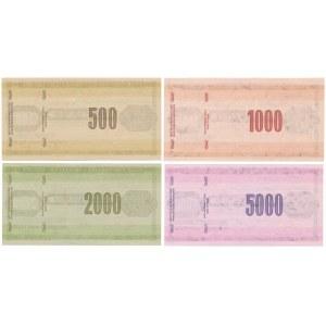 WZORY Czeków Podróżniczych NBP 500-5.000 zł (4szt)