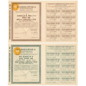 Warszawska Kinematograficzna Sp. Akc., 100 zł i 10x 100 zł 1930 (2szt)