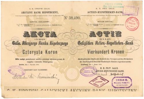 Akcyjny Bank Hipoteczny, Em.6, 400 kr 1900