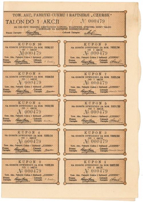Fabryka Cukru i Rafinerji Czersk, 15 zł 1927