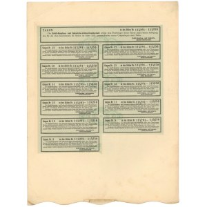 Spółka Akc. Górnictwa i Przemysłu Naftowego, Em.2, 50x 200 kr 1921